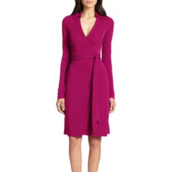 7116f4b1cdf Diane Von Furstenberg Dresses   Skirts - DVF New Jeanne Two Wrap Dress in  Lotus Berry